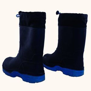 Boy's 2B rain snow insulated rubber boots USA EUC